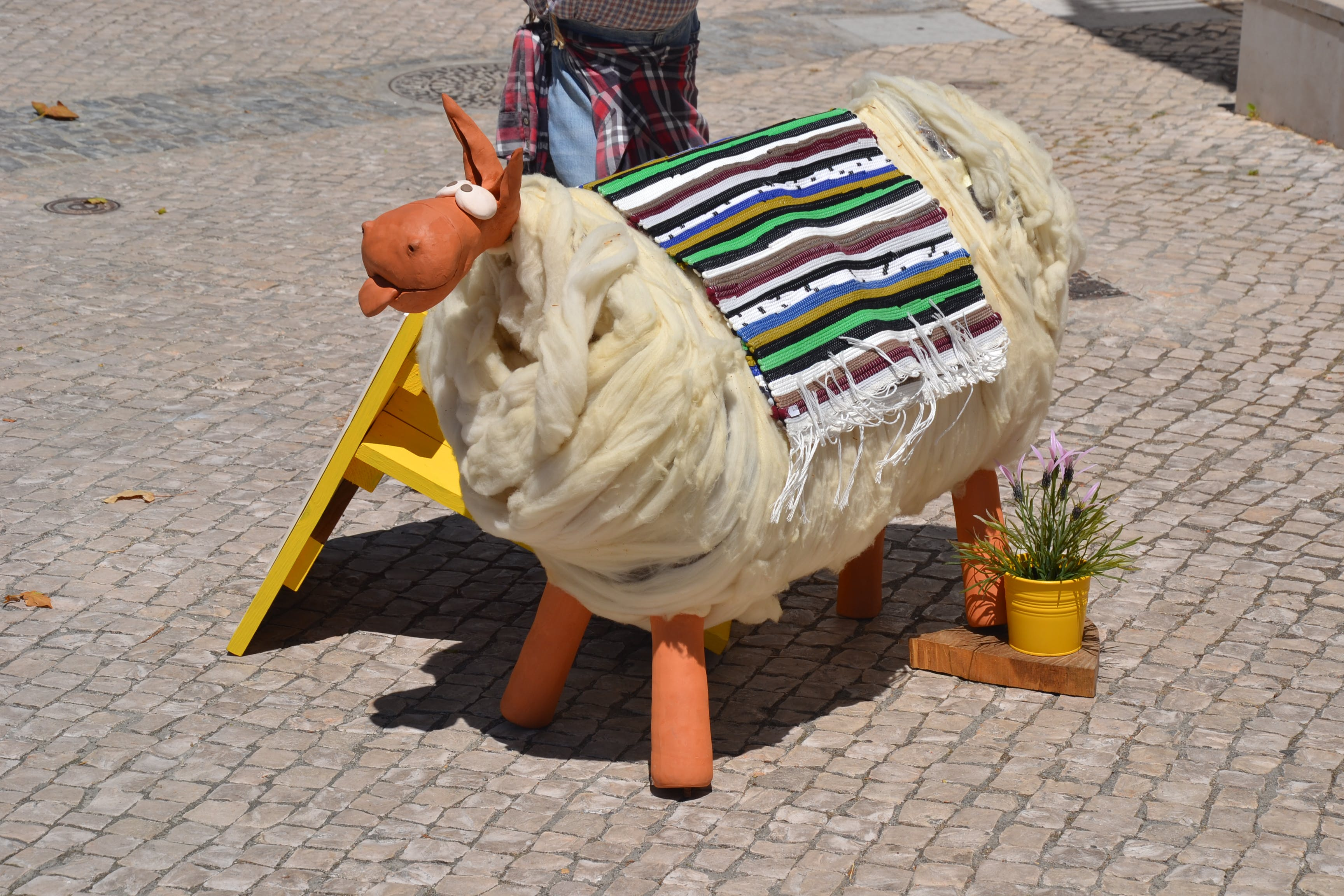 Free stock photo of fun, portugal, sheep, street art