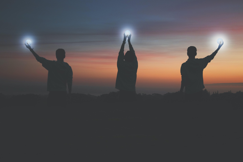 Free stock photo of bloodmoon, moon, silhouette, sunset