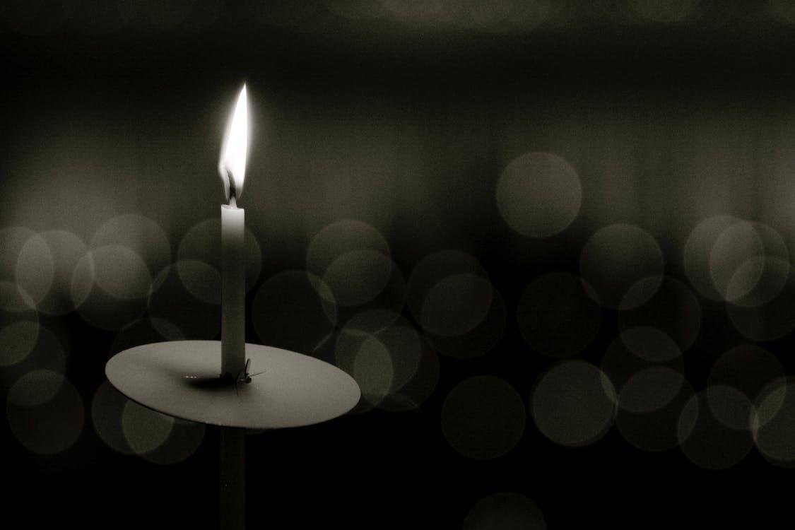 горящая свеча, рождество, свеча