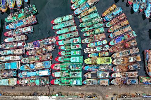 ウォータークラフト, ドローン撮影, ボート, 上からの無料の写真素材