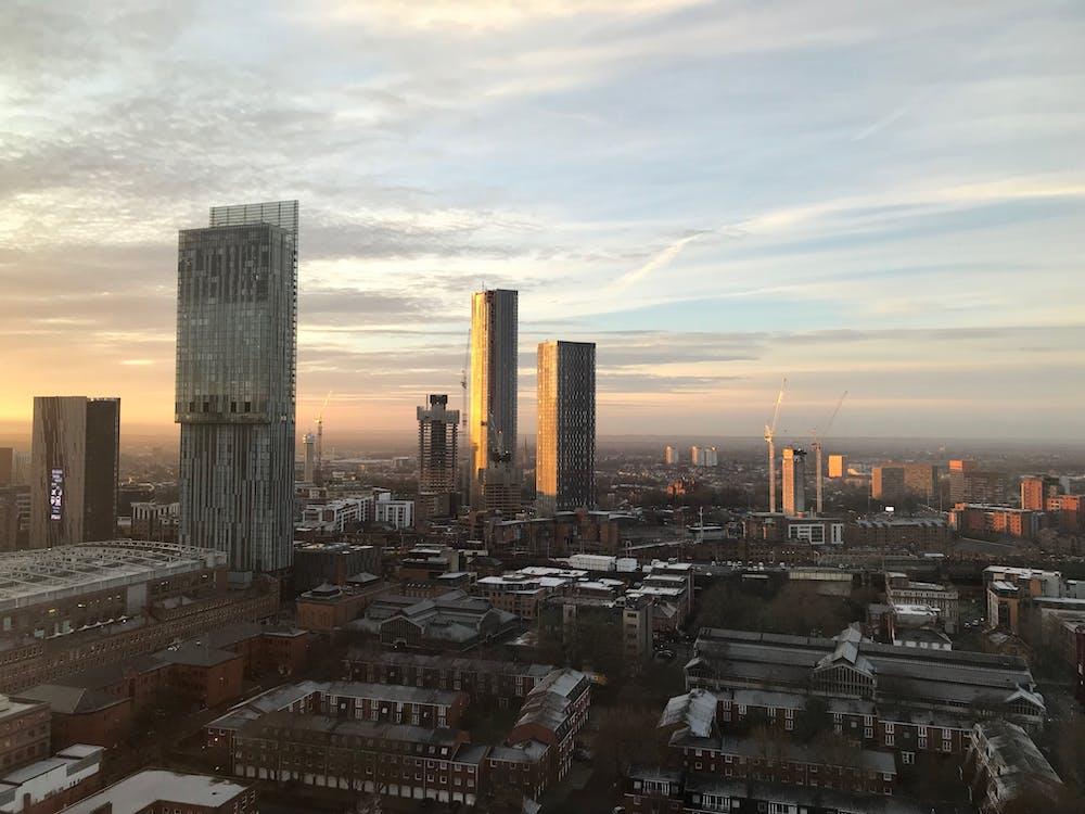 Free stock photo of city, manchester, skyline