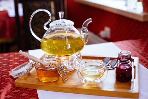 Clear Glass Tea Set