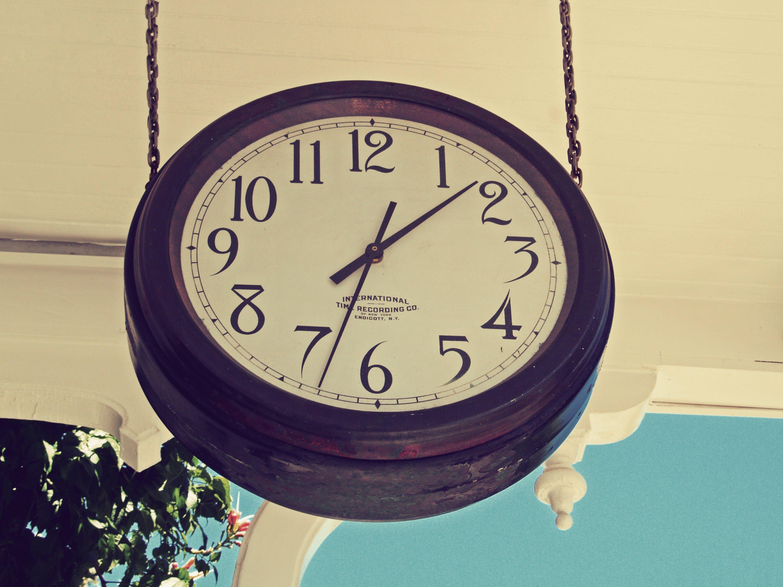Free stock photo of clock, old clock