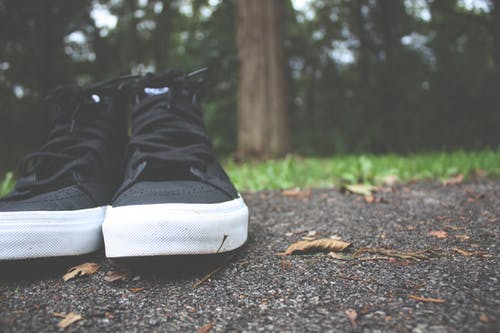 Black and White High Top Sneakers