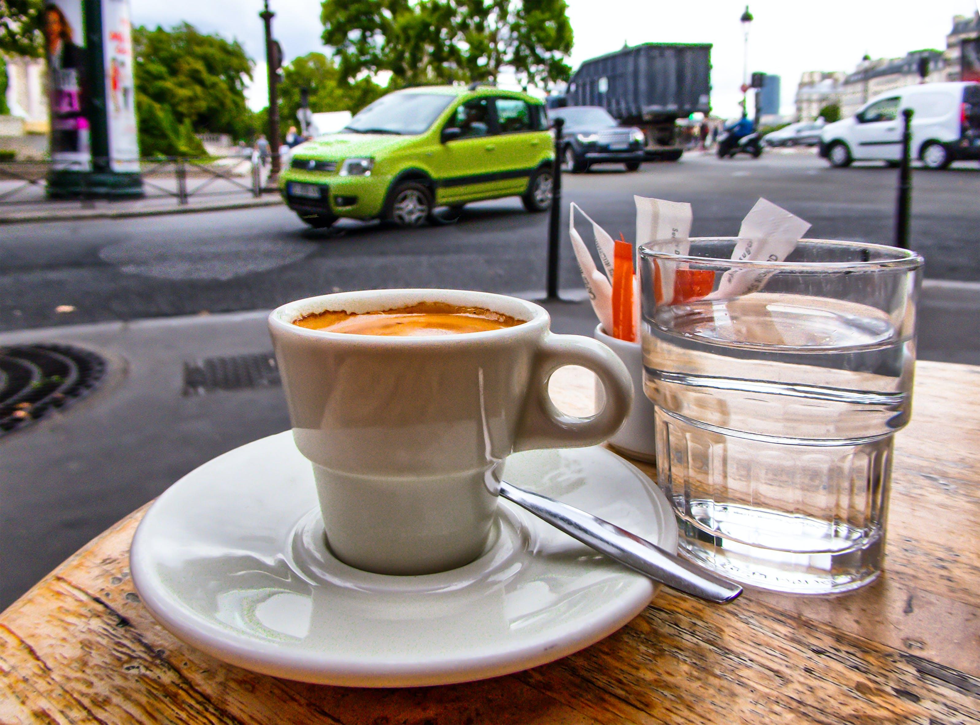 Free stock photo of bar cafe, capital, cars, espresso