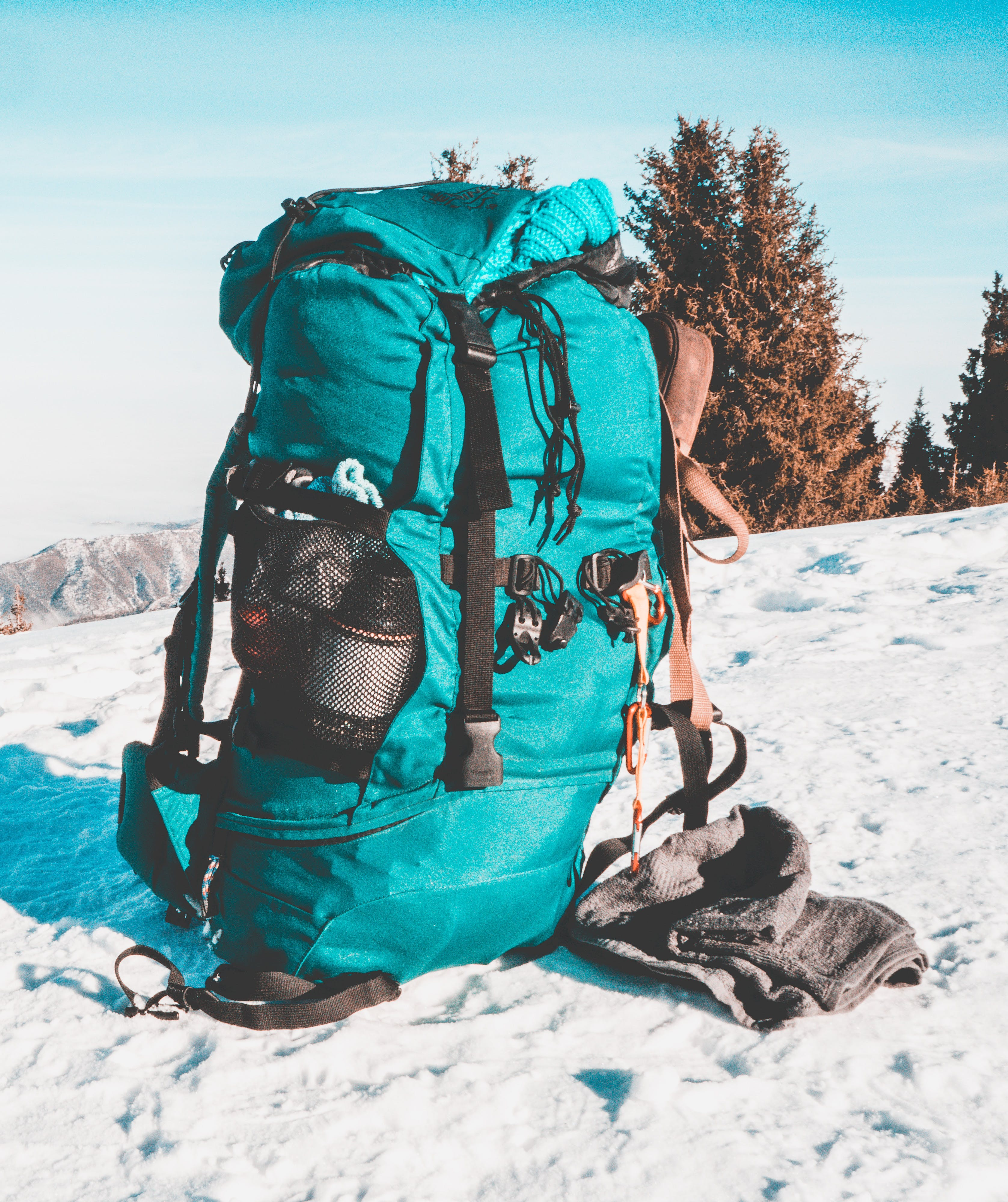 Free stock photo of bag, morning, snow, tent