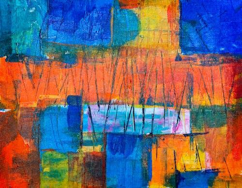 Gratis arkivbilde med abstrakt maleri, akryl, akrylmaling, bakgrunnsbilde