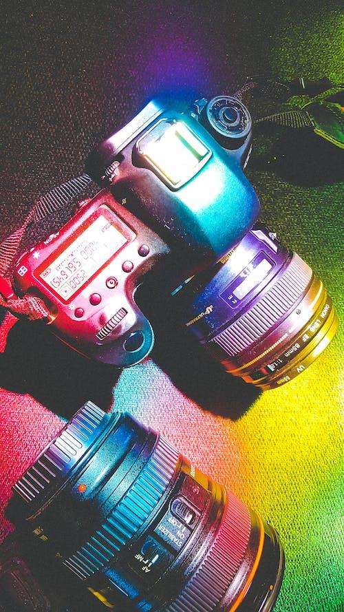 Free stock photo of camera, colors, rainbow