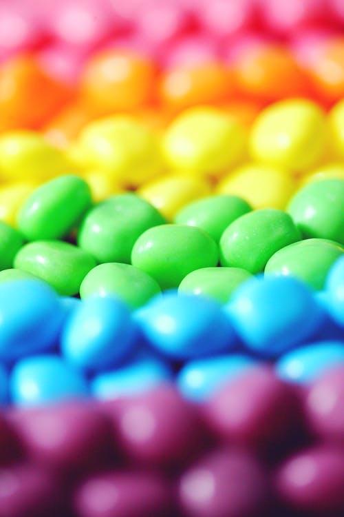 färgrik, godis, mat