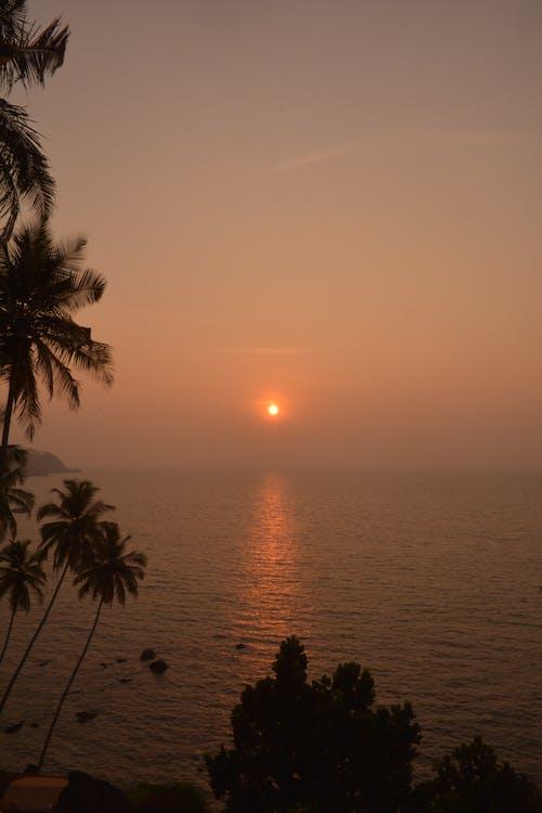 Ingyenes stockfotó naplemente, naplemente strand, narancs, narancssárga háttér témában
