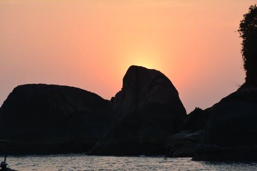 Ingyenes stockfotó arany ég, ég, hegy, nap témában