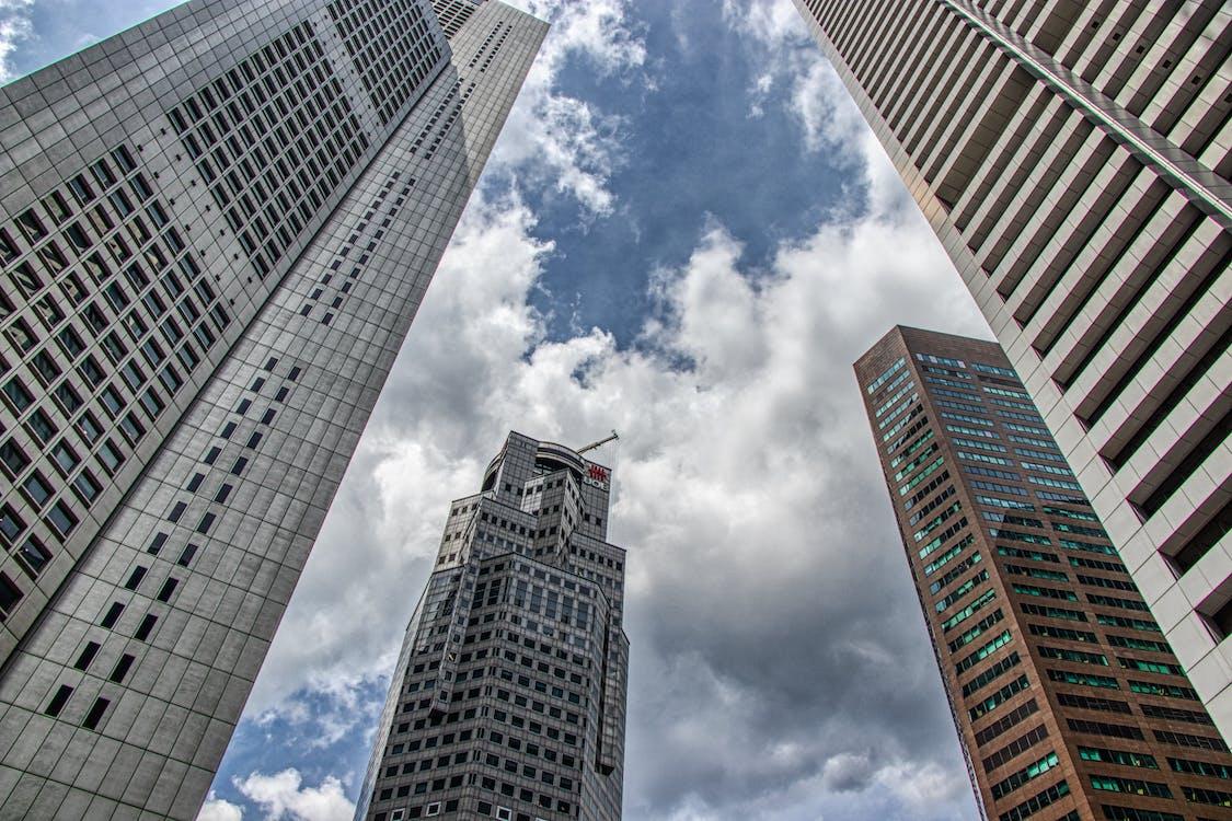 arkitektonisk, Asiatisk arkitektur, blå himmel