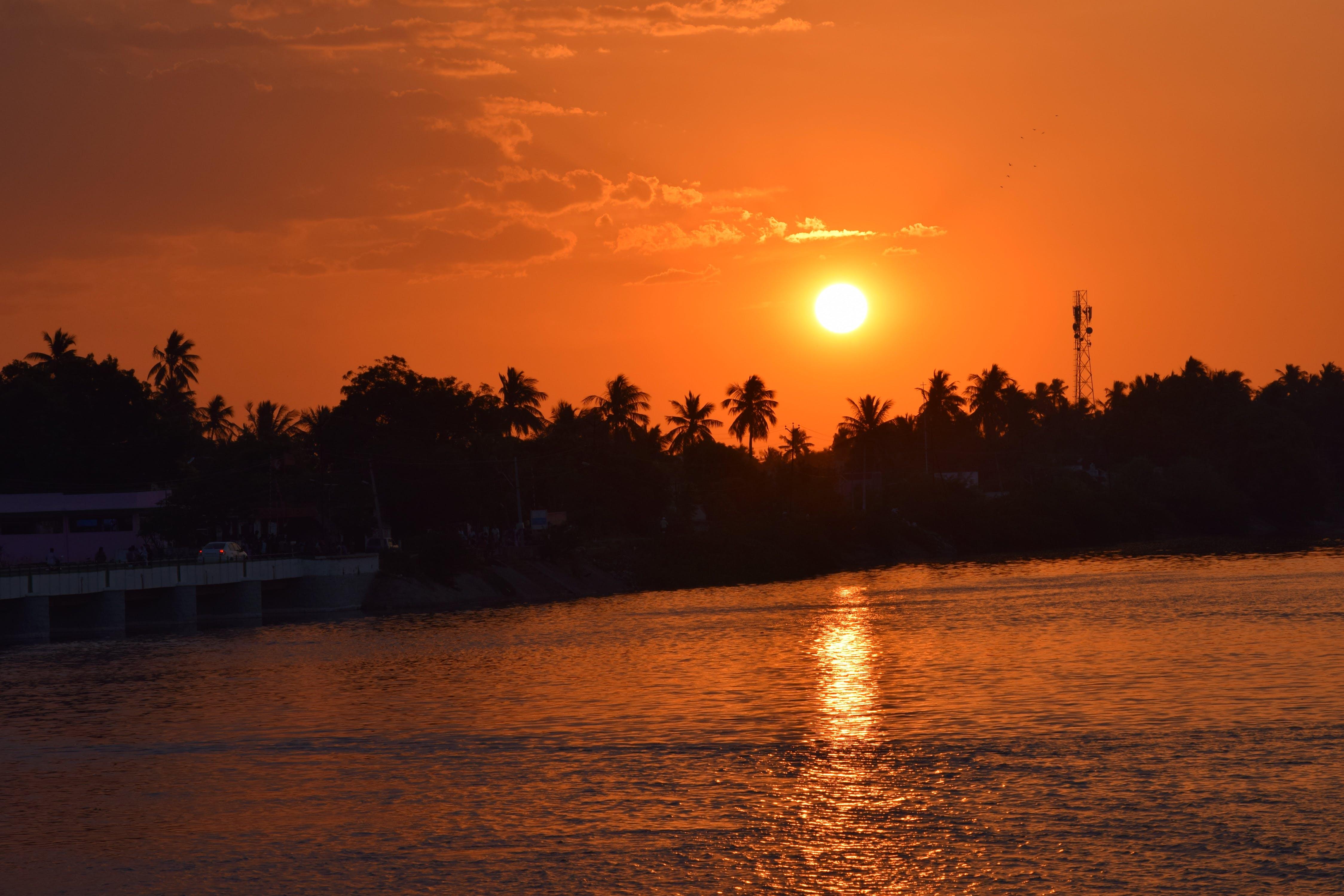 Free stock photo of sunset, india