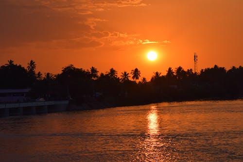Free stock photo of india, sunset