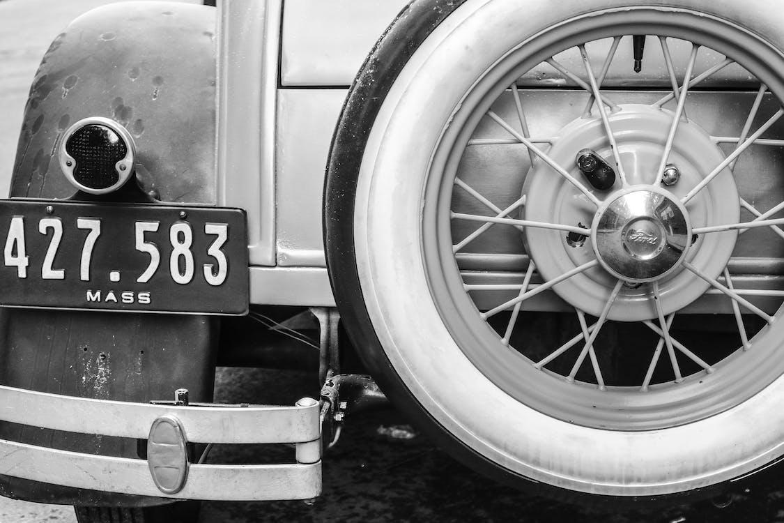 antikk, bil, hjul