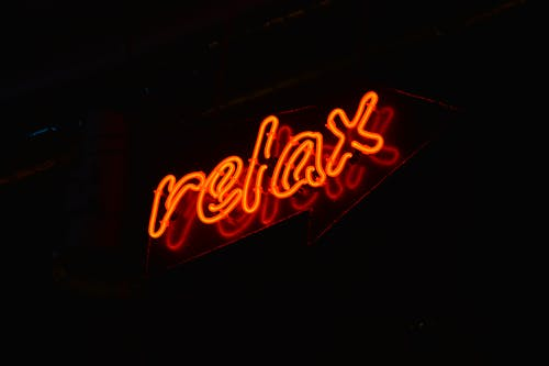 Red Relax Led Signage