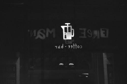 Foto d'estoc gratuïta de blanc i negre, cafè, cafeteria, reflex