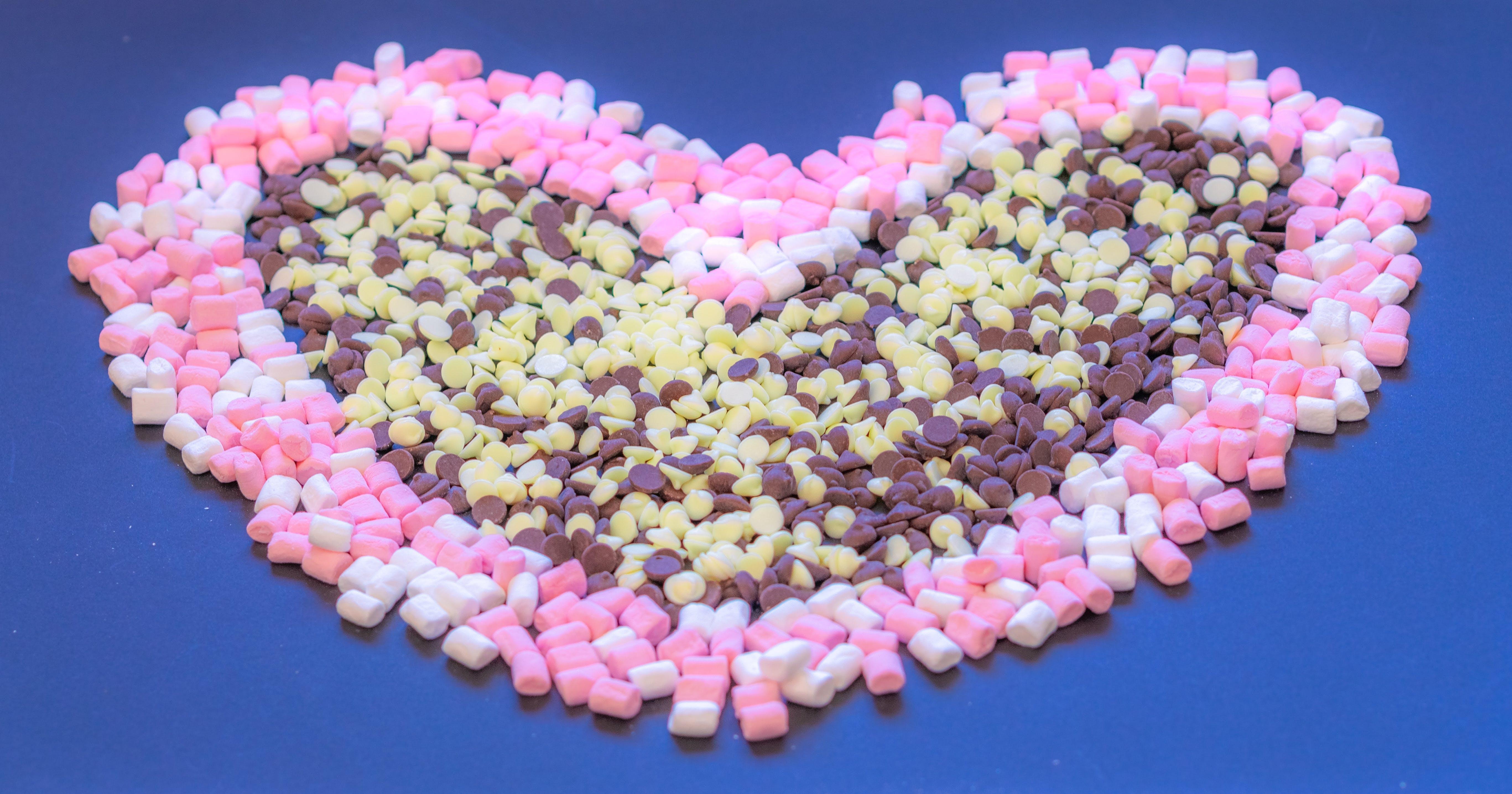 Free stock photo of black background, candies, chocolate, decorative