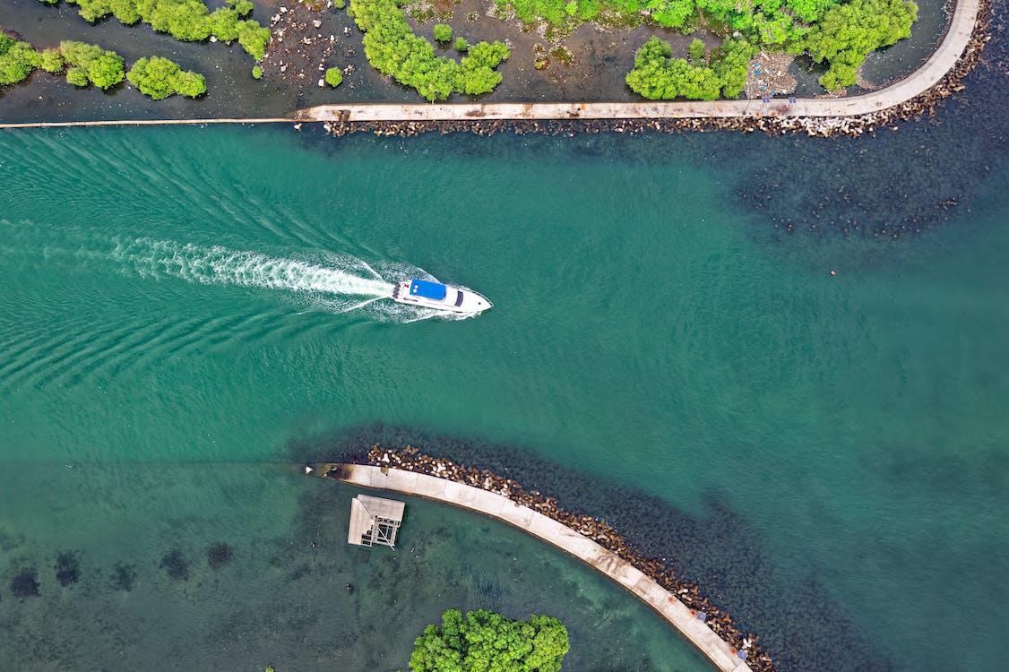 Indonézia, letecký záber, pohľad zvtáčej perspektívy