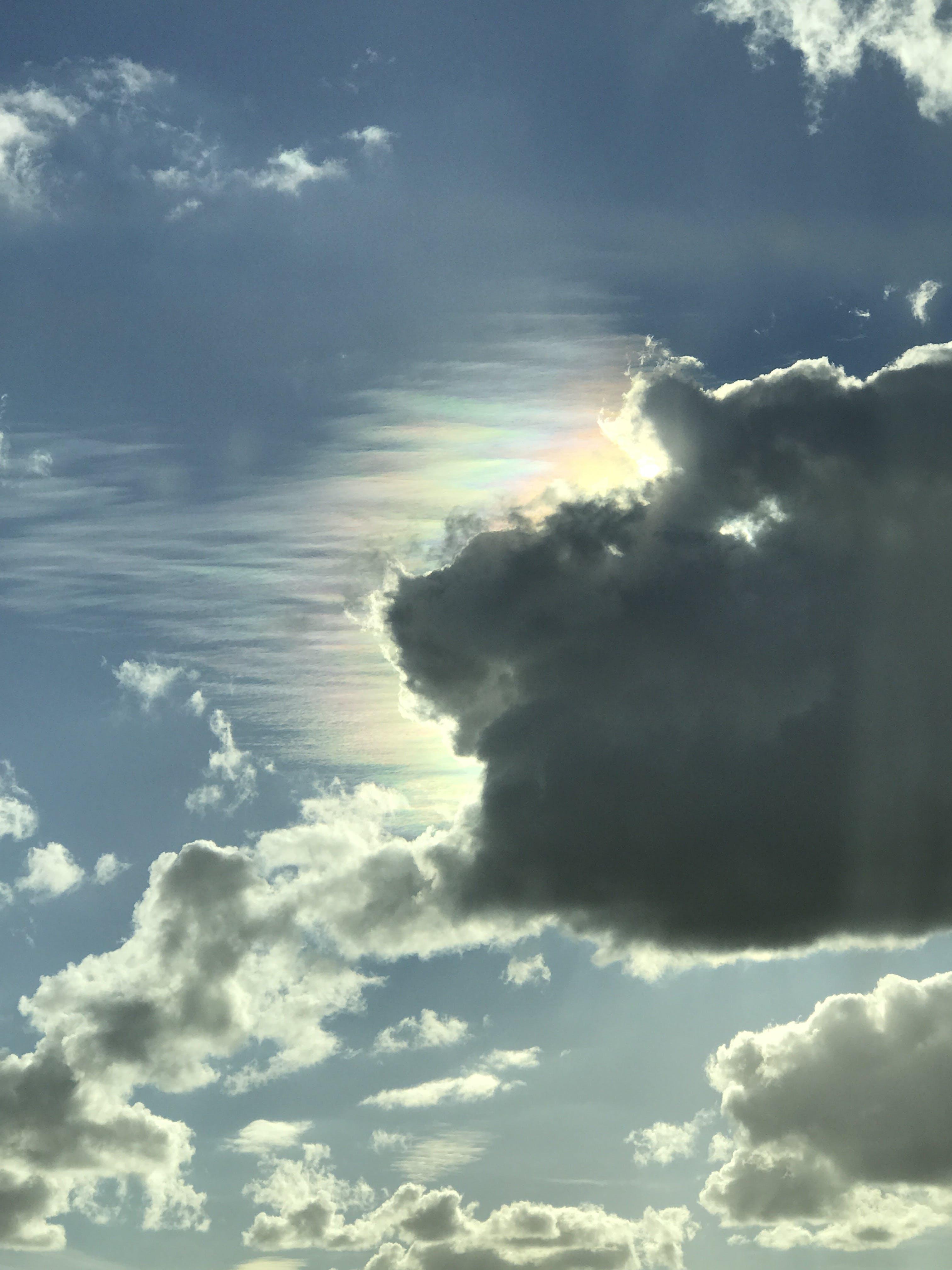 blue, clouds, cloudy sky