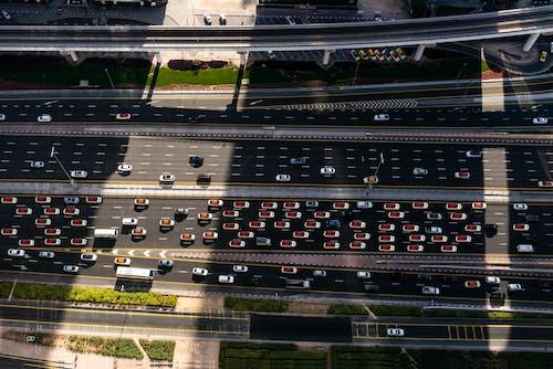 공중 촬영, 교통, 교통체계, 도로의 무료 스톡 사진