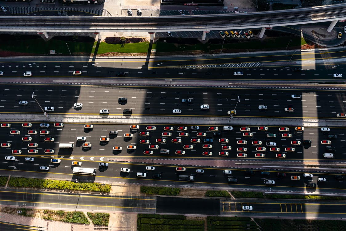 Aerial Photography Of Cars On The Road
