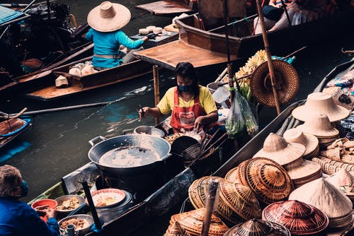 Free stock photo of floating, market
