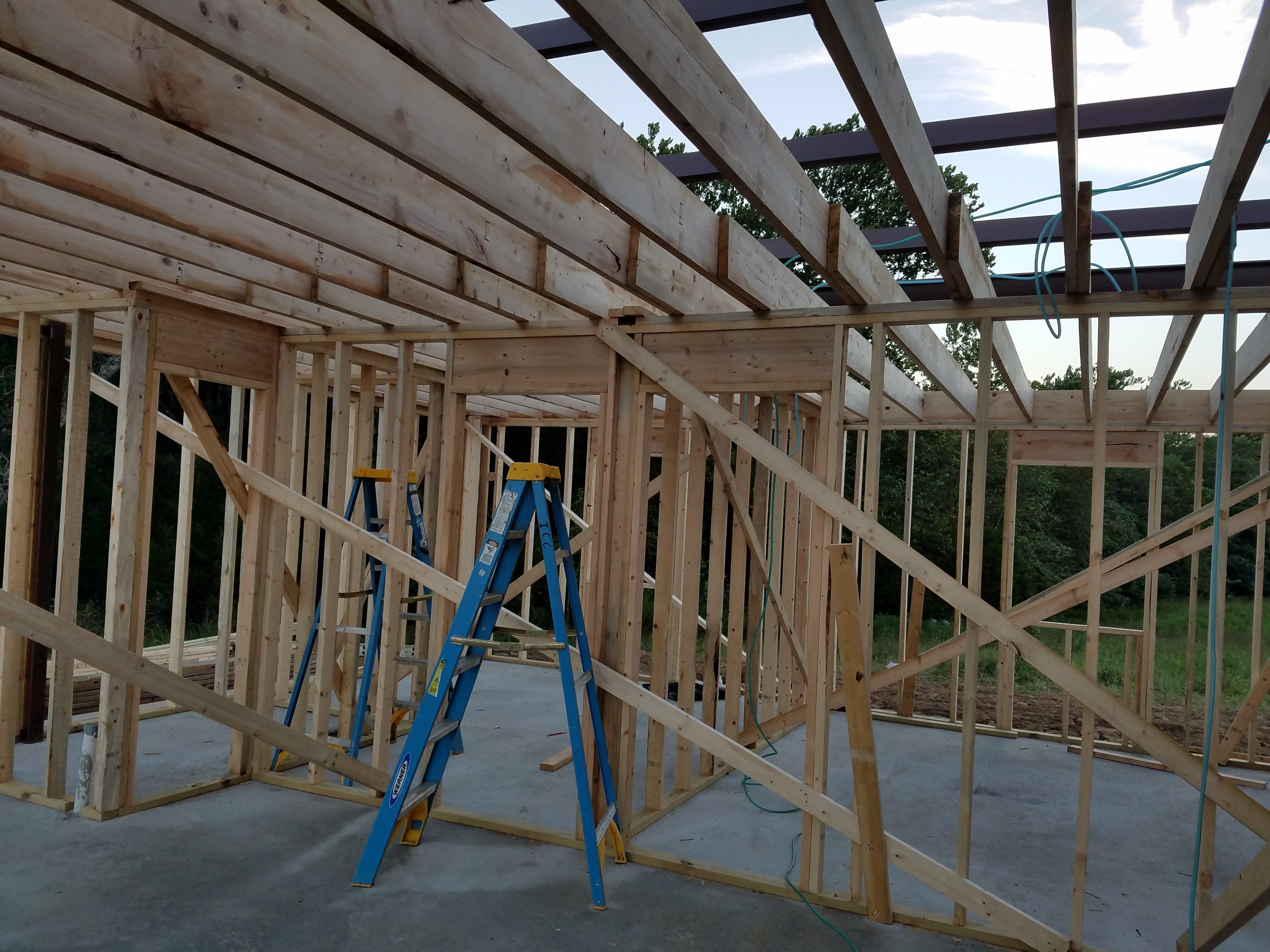 Free stock photo of construction, framing