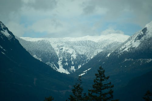 Fotos de stock gratuitas de Canadá, columbia británica, cubierto de nieve, Montaña cubierta de nieve