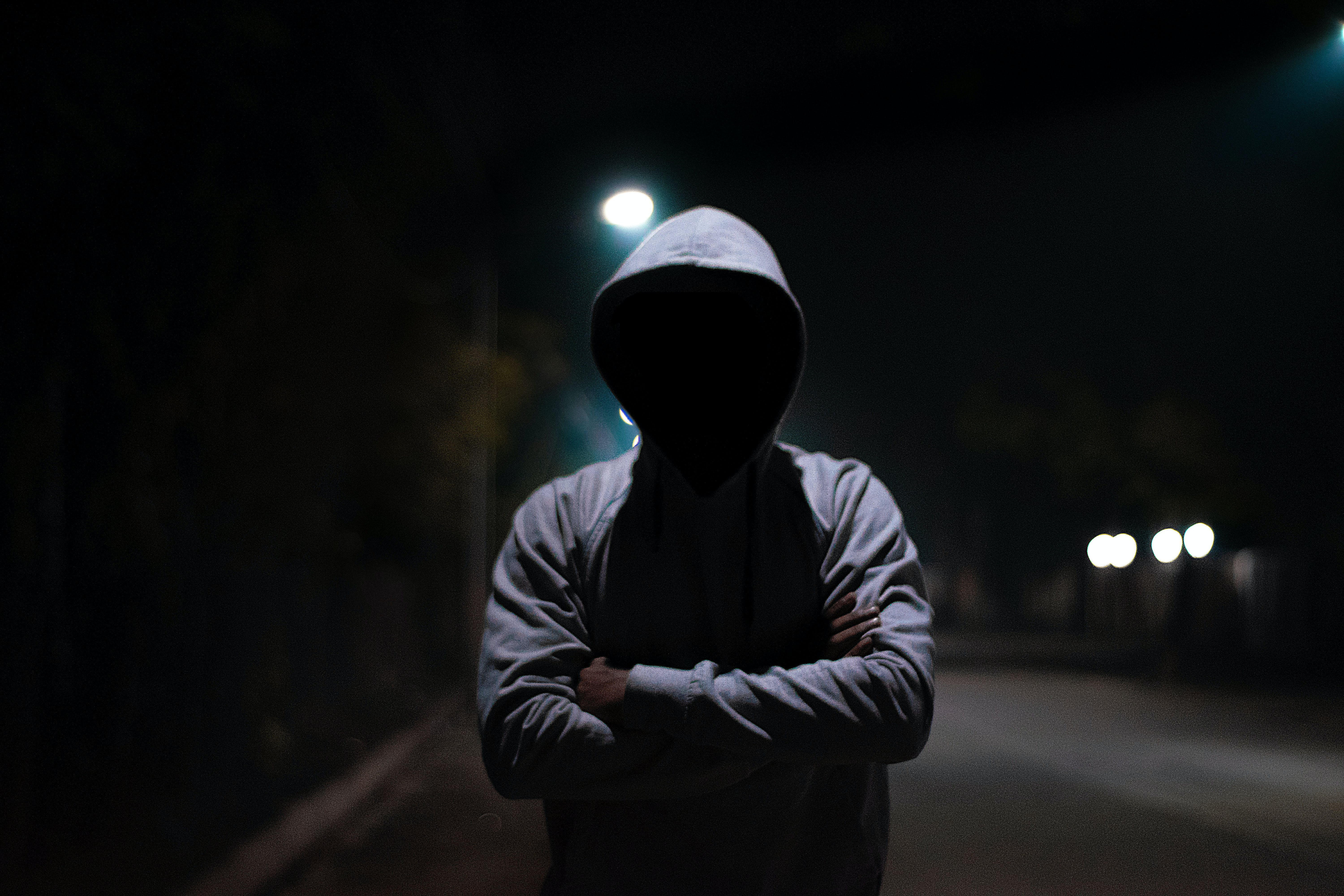 Free stock photo of dark, faceless, hood, hoodie