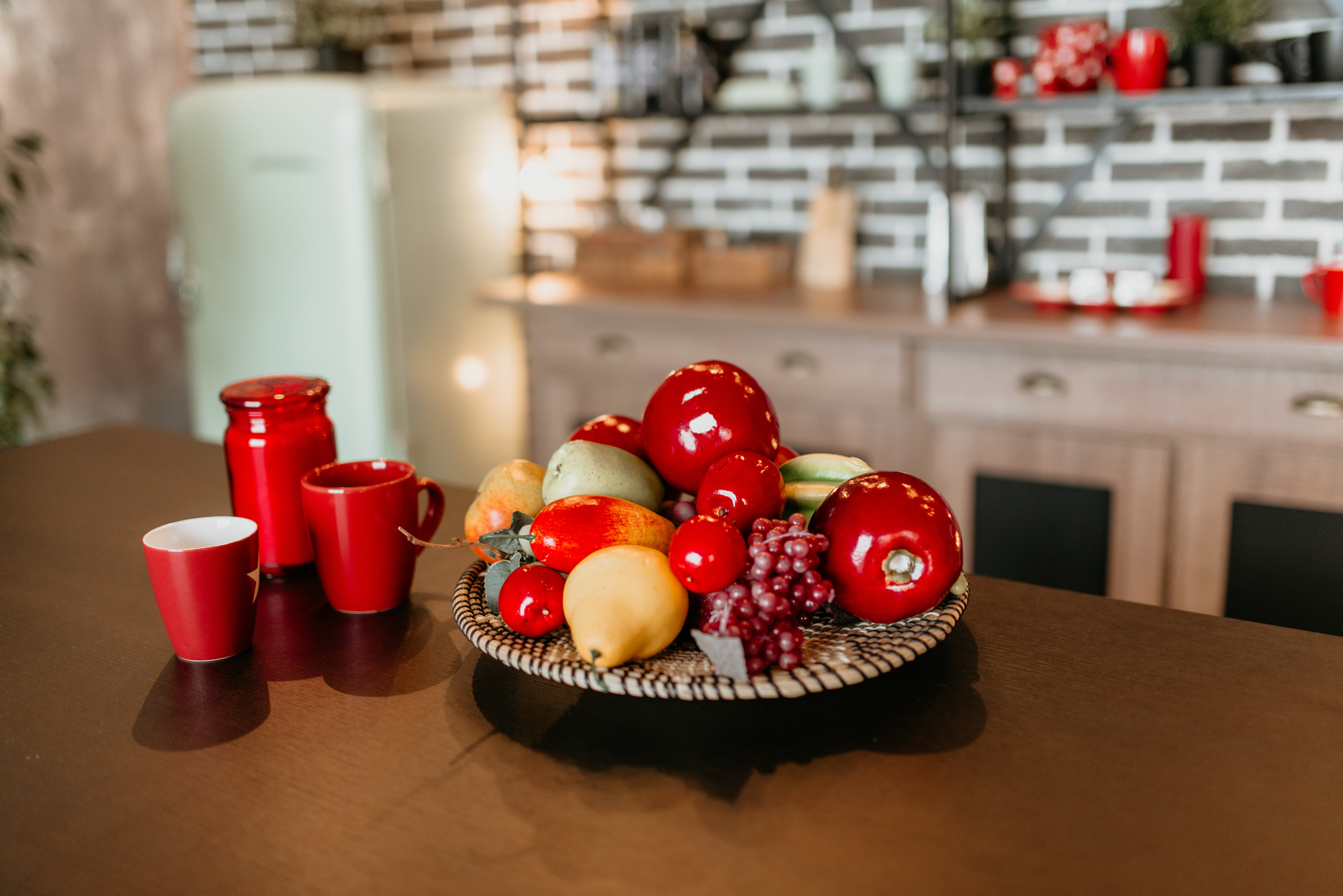 Pile Of Fruits On Table