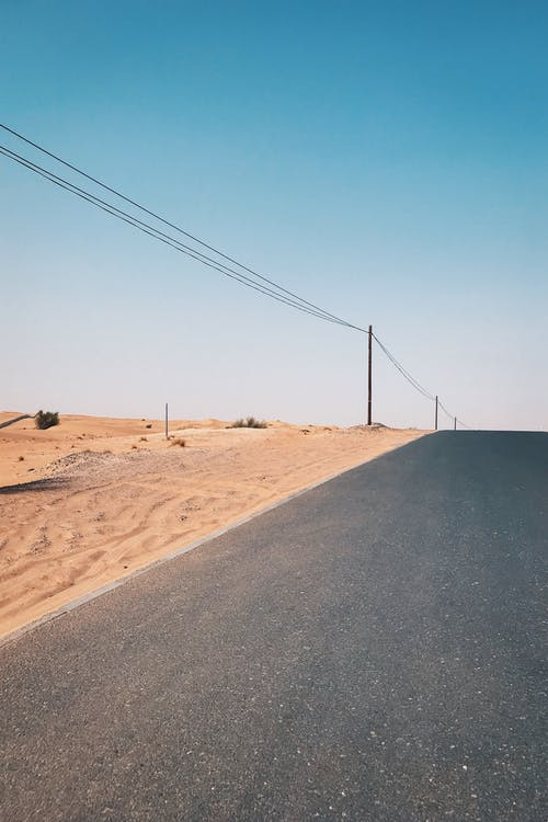 Empty Road Near Desert