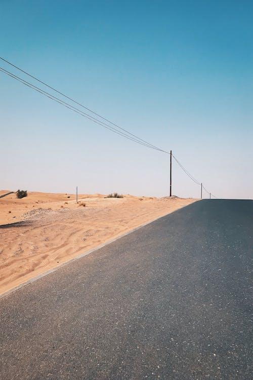 asfalt, dagsljus, landskap