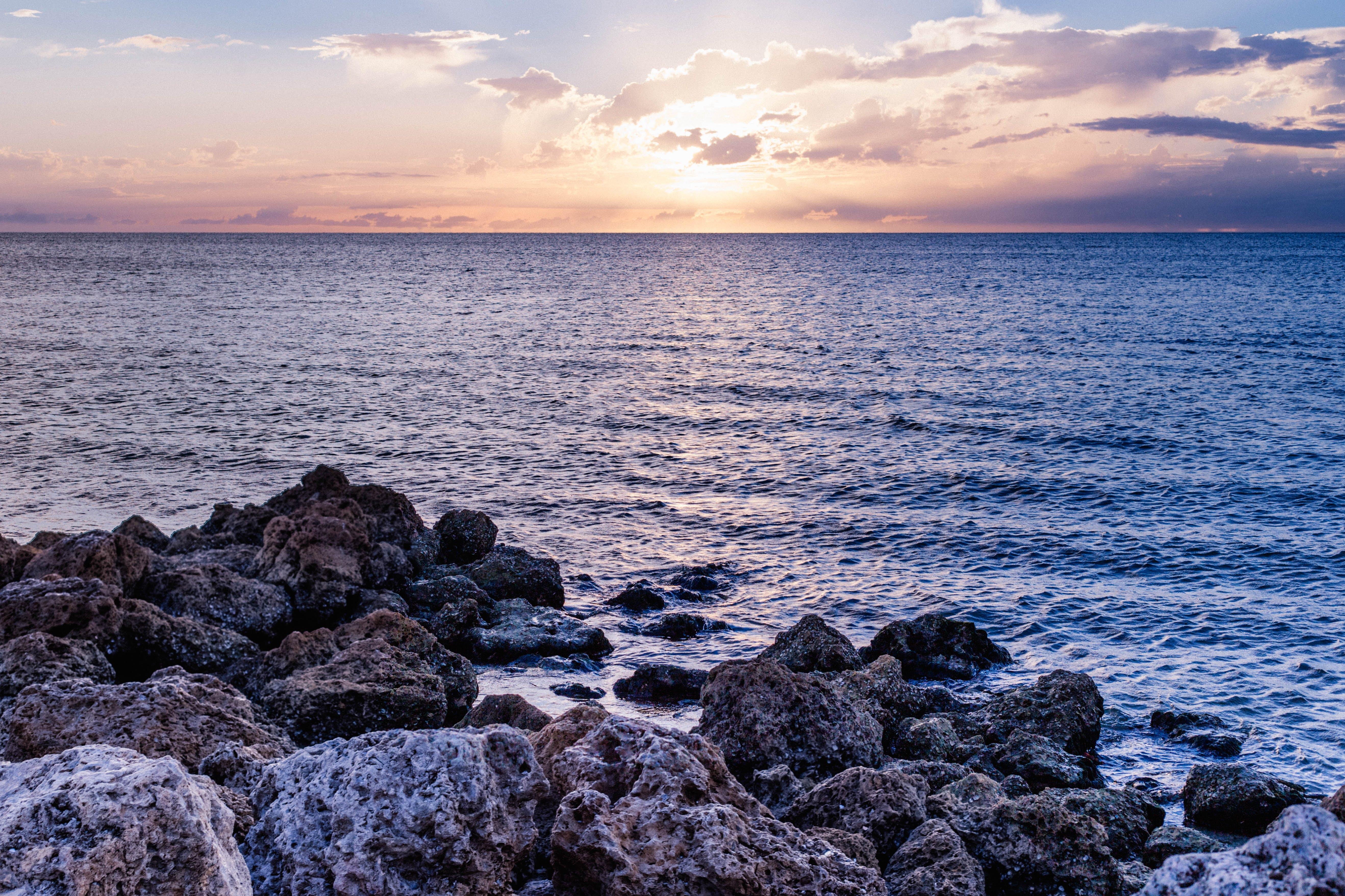 Ingyenes stockfotó ég, felhők, hajnal, hullámok témában