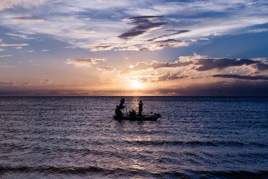 Free stock photo of fishing, light, sea, dawn