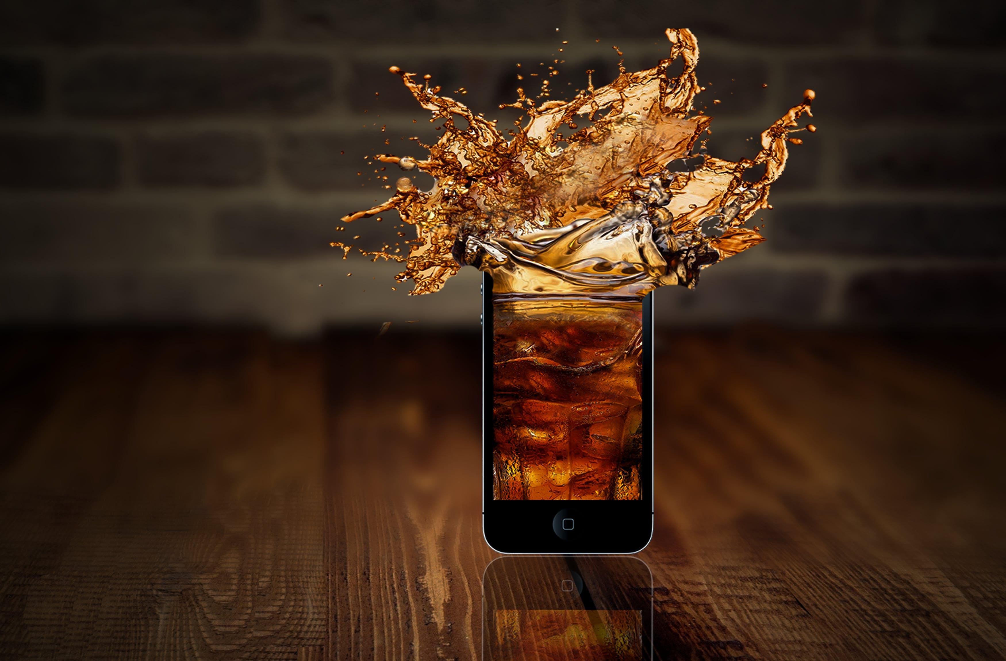 Free stock photo of editing, iphone, splash