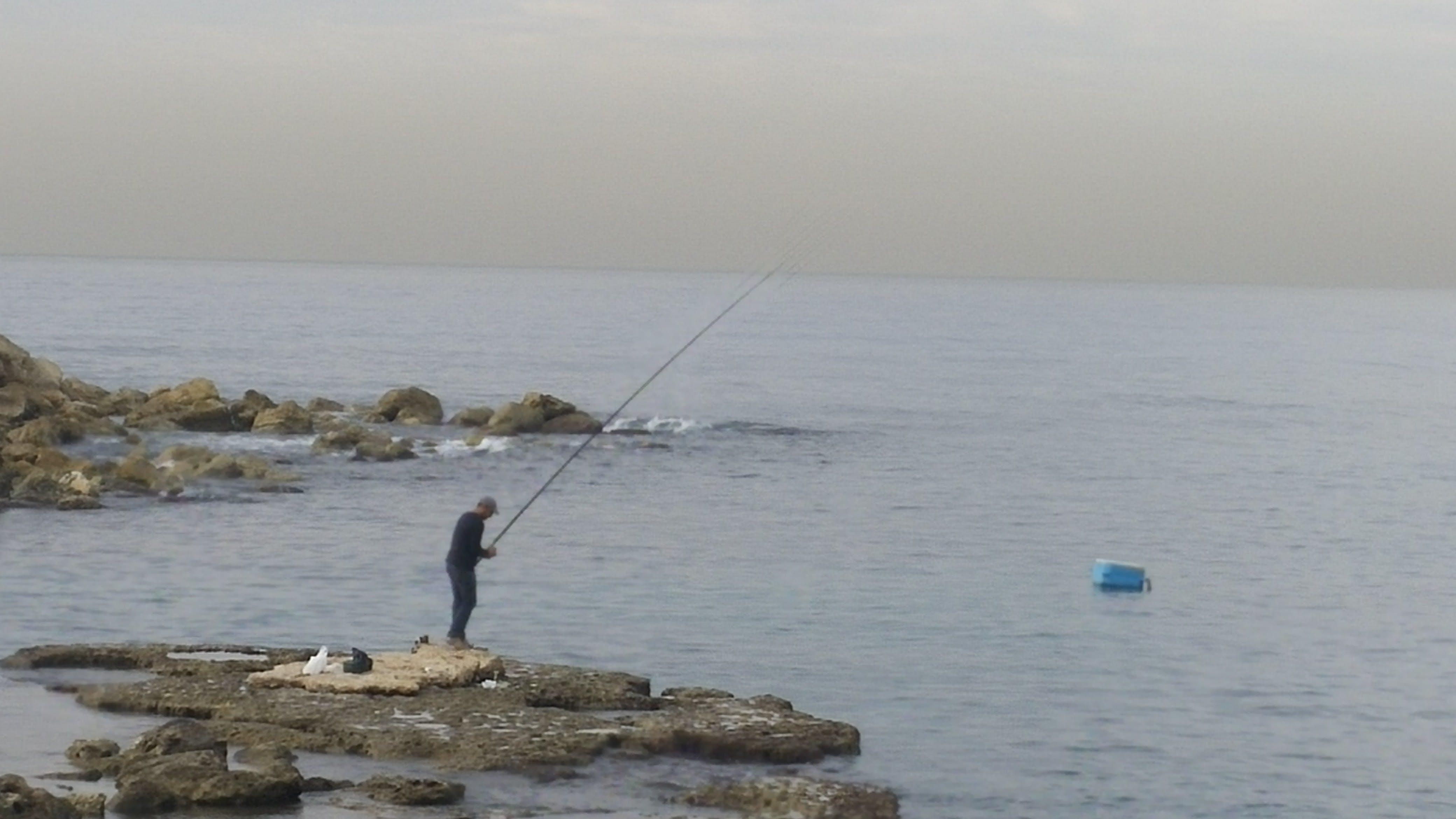 Free stock photo of fisherman, fishing, mediterranean sea, rocks