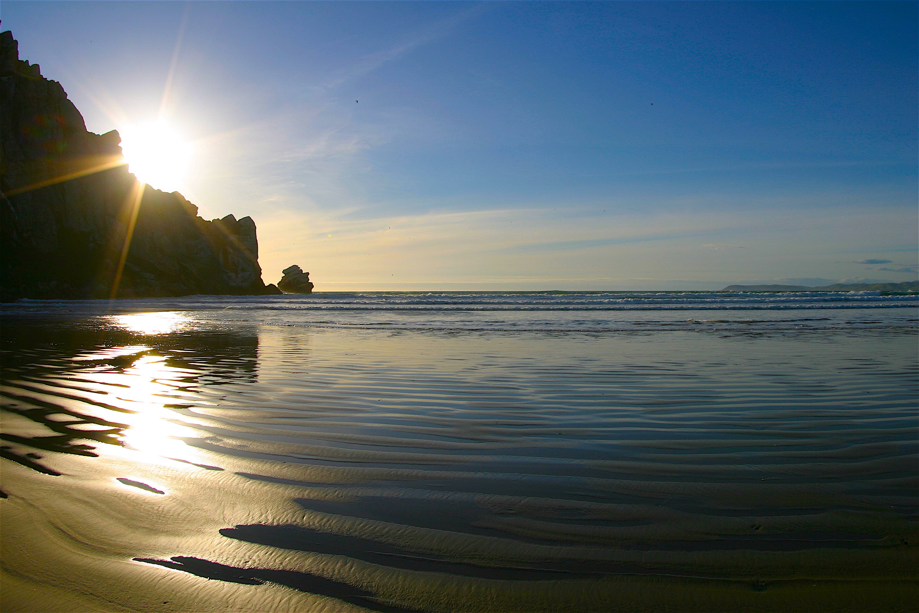 Free stock photo of beach, Morro rock, ocean, sunset