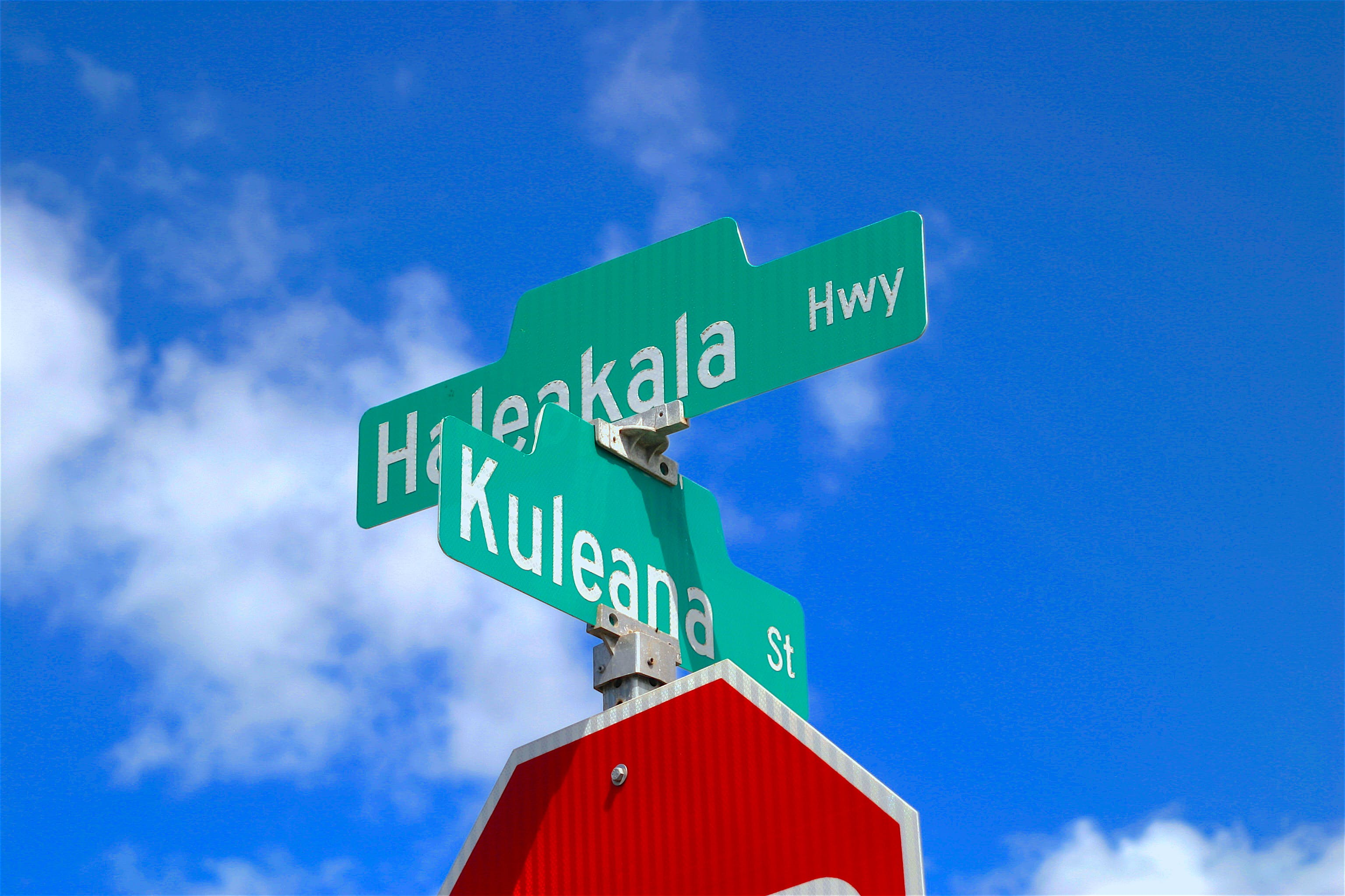 Free stock photo of hawaii, signs, street signs
