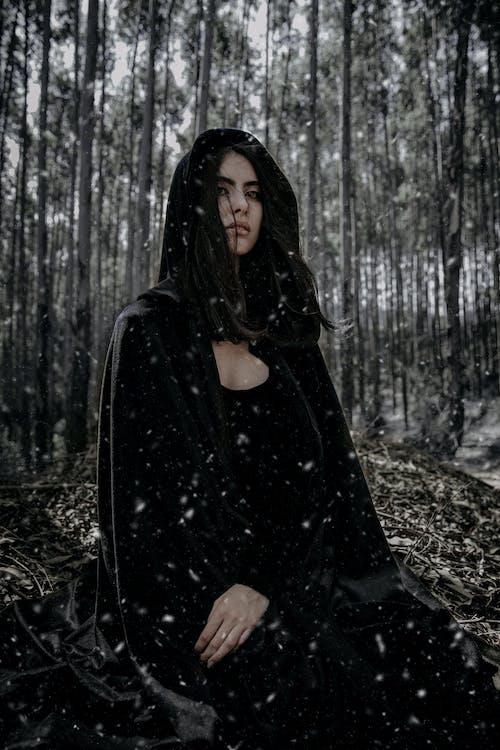 escuro, garota, magia