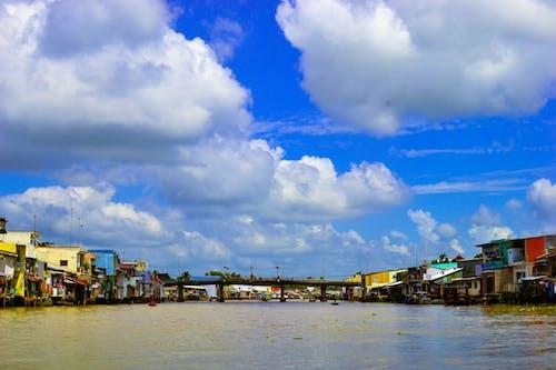 Free stock photo of beach landscape, bridge, cloudy