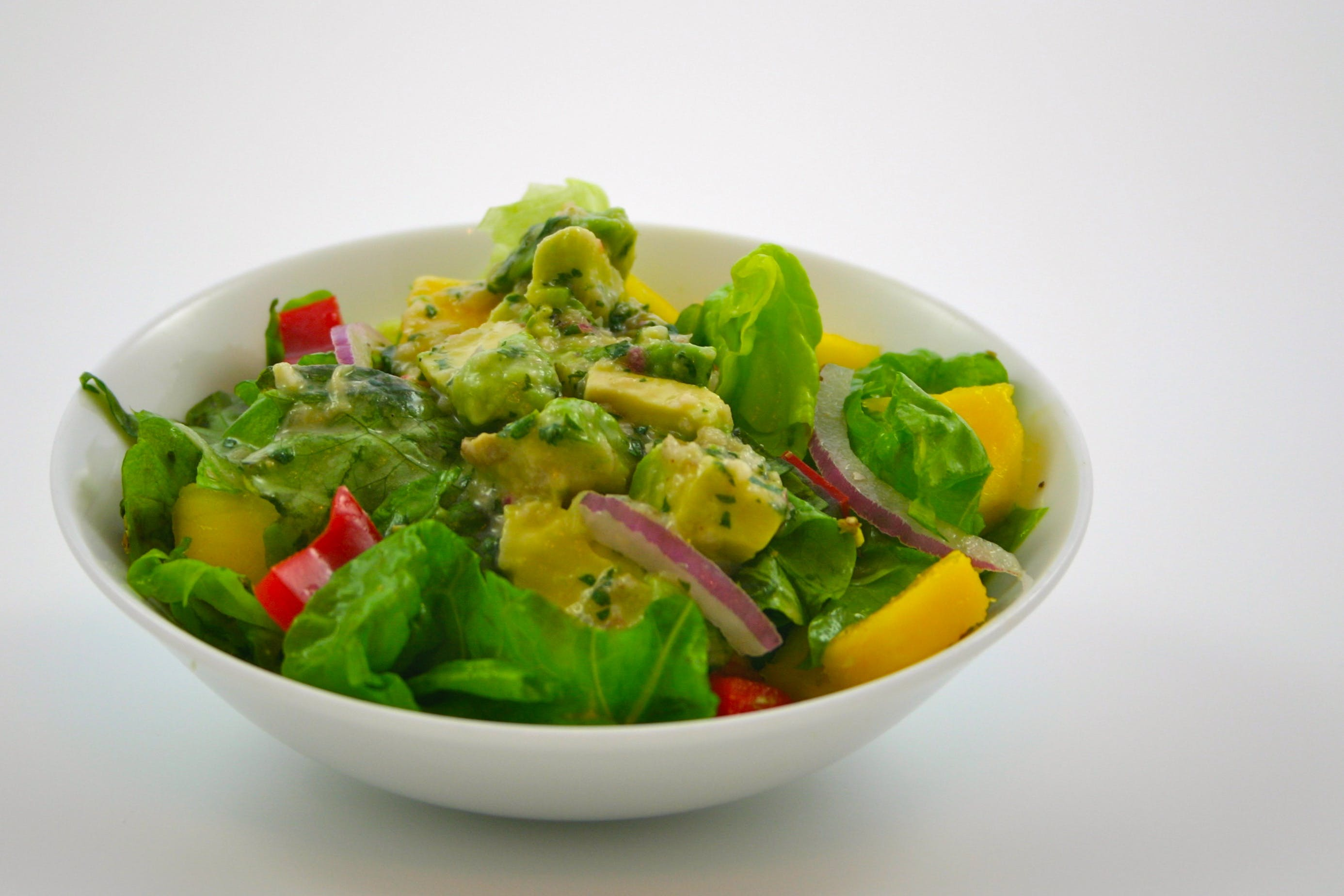 Free stock photo of avocado salad
