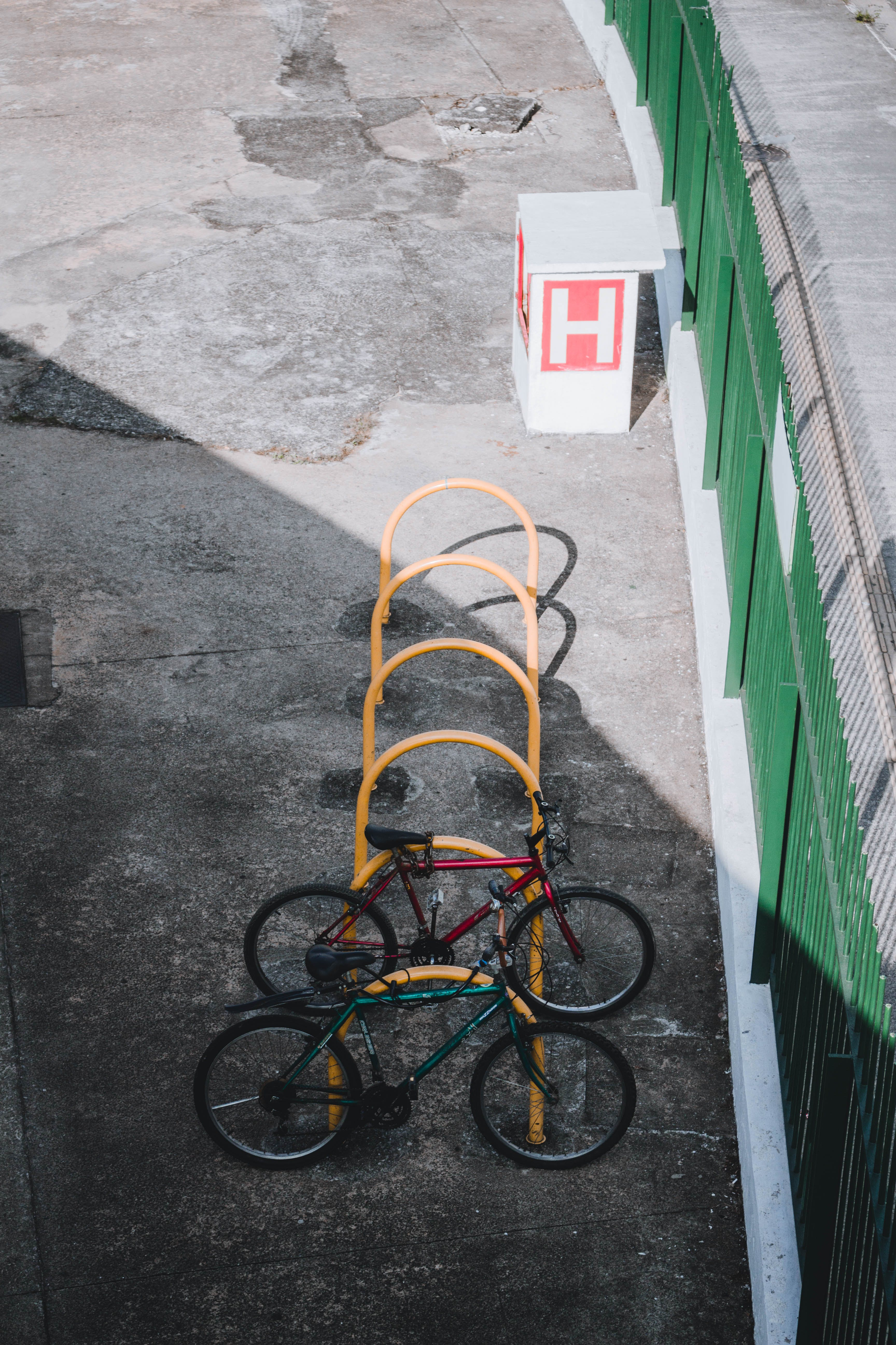 Two Bikes Parked