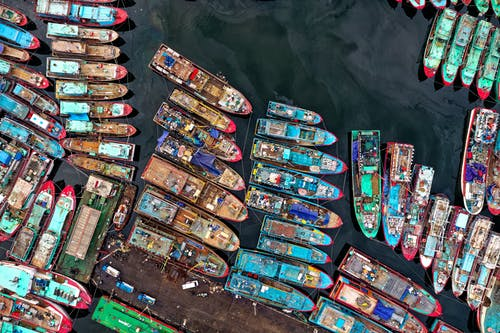 คลังภาพถ่ายฟรี ของ จากข้างบน, ท่าเรือ, ภาพถ่ายทางอากาศ, ภาพถ่ายโดรน