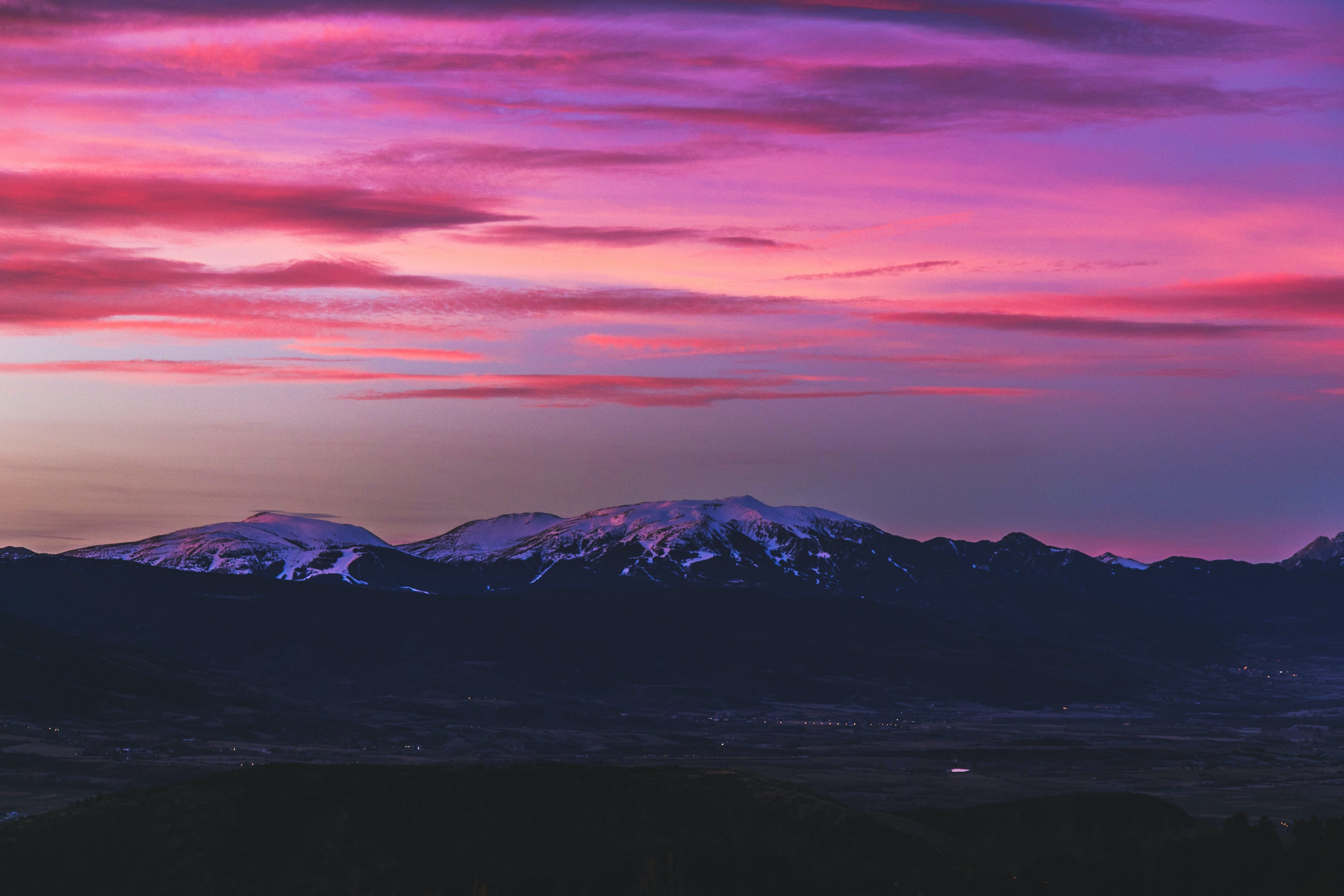 Scenic View Of Mountain During Dawn
