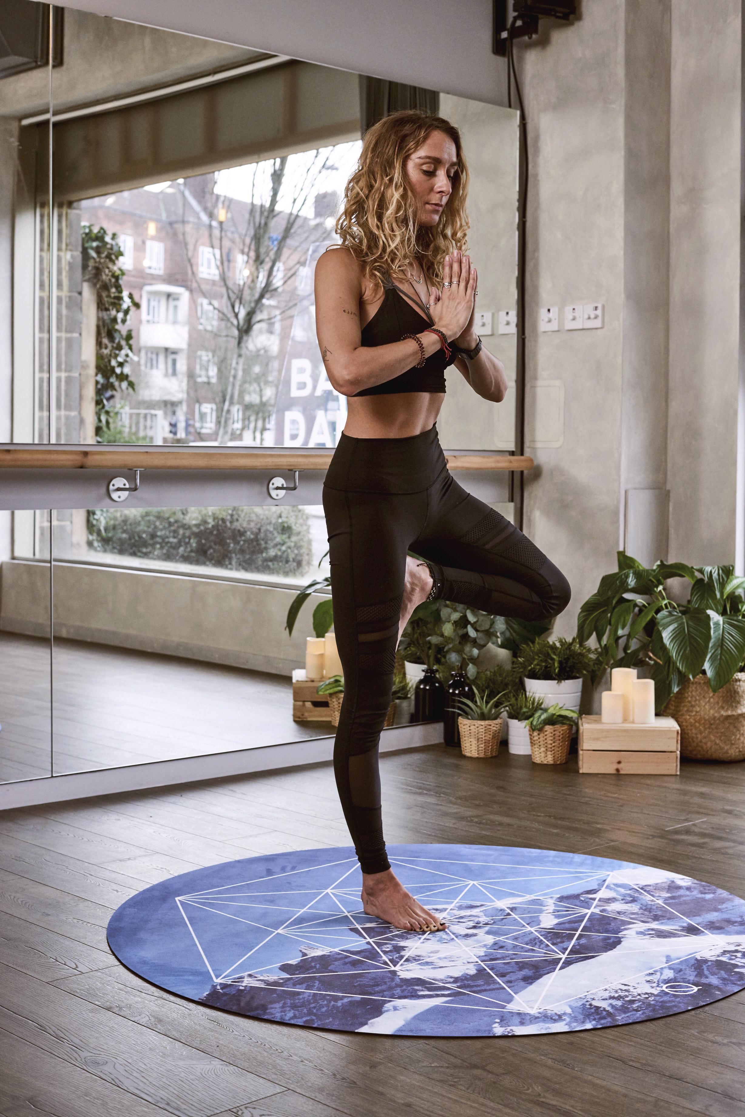 Woman Balancing With Right Foot