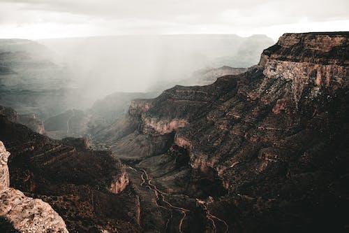 Základová fotografie zdarma na téma déšť, hory, kaňon, krajina