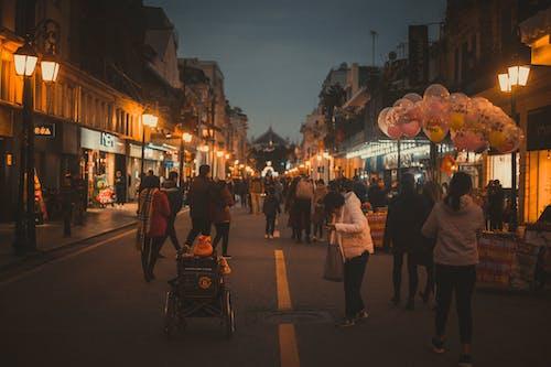 거리, 도시의 불빛, 밤의 도시, 베트남의의 무료 스톡 사진