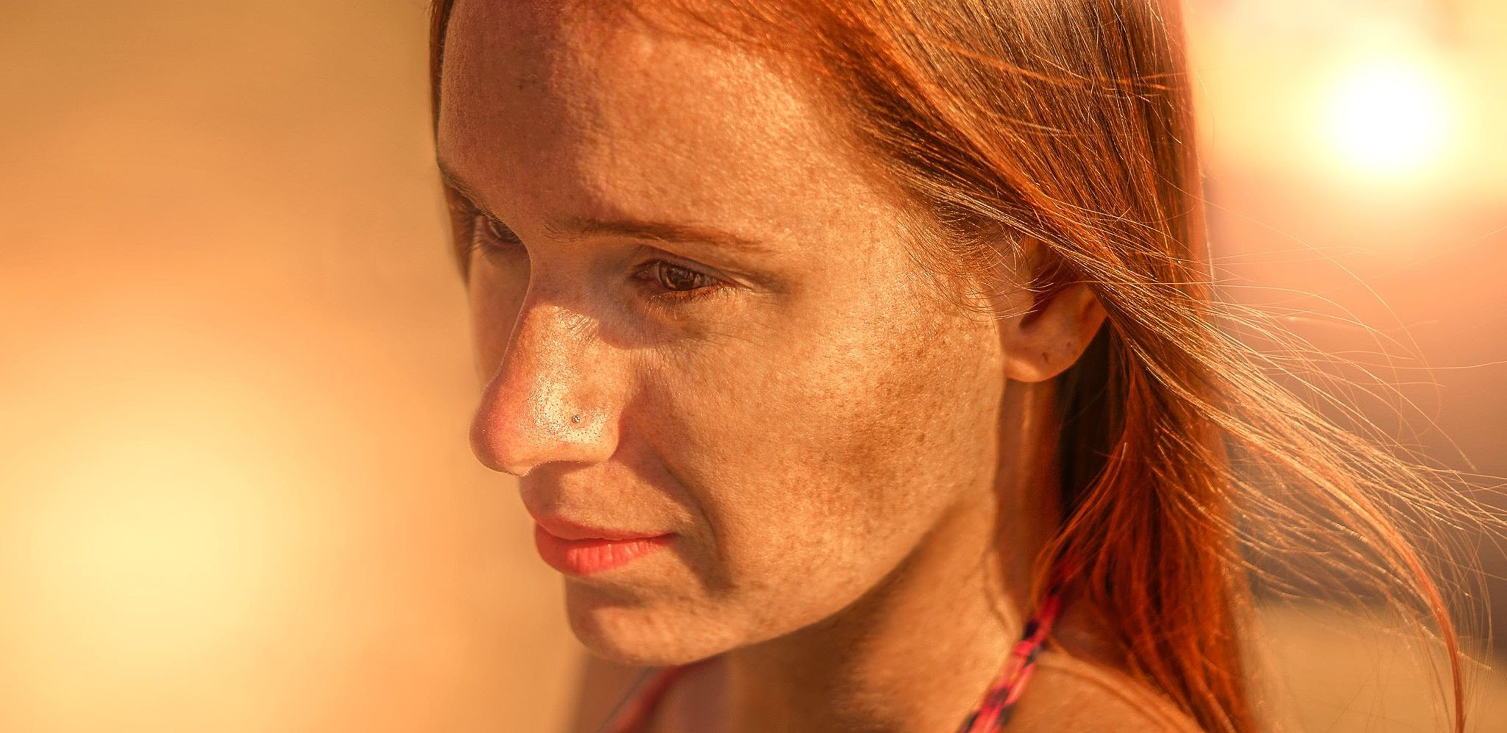 Free stock photo of beautiful woman, freckles, ginger, orange