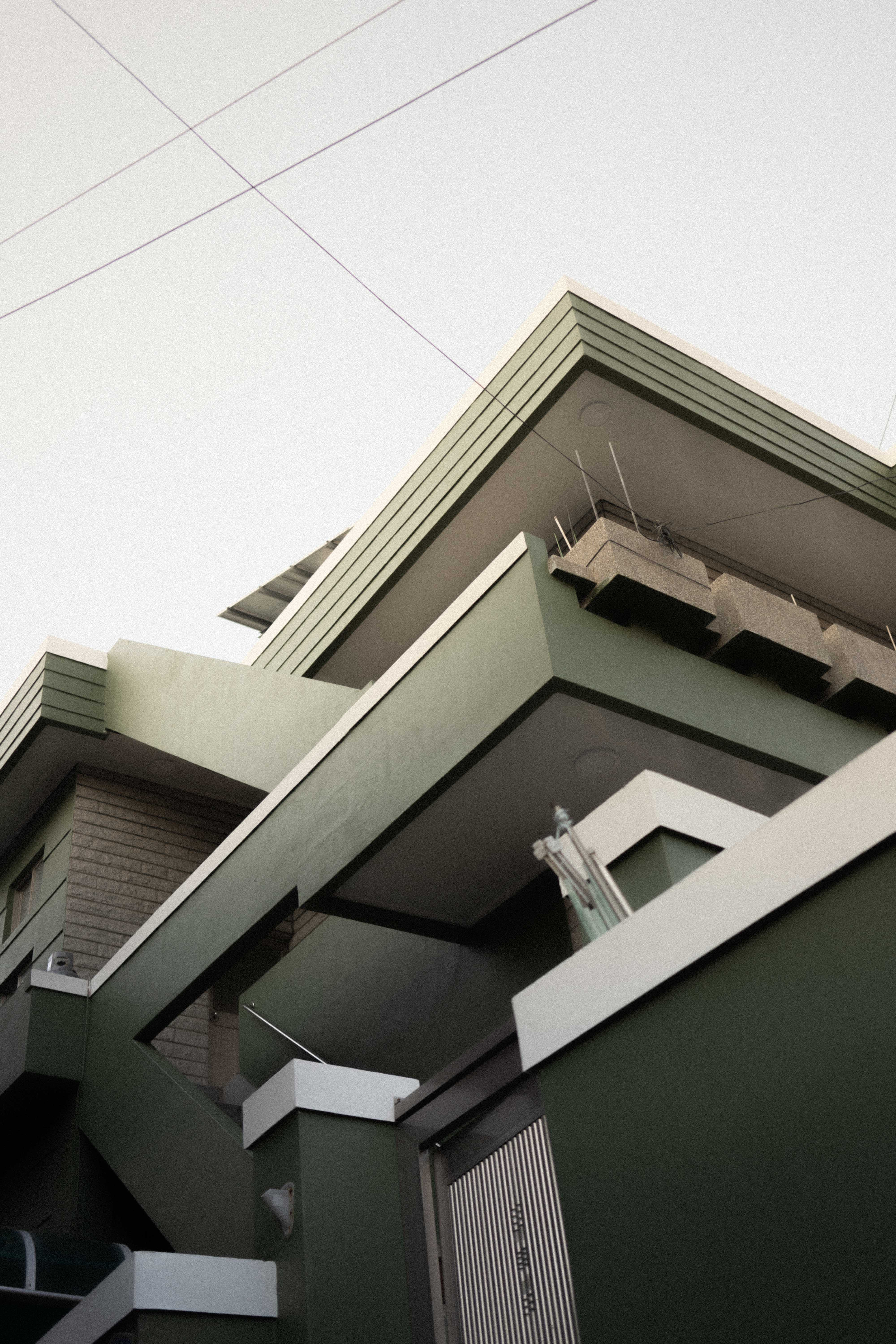 Low Angle View of Balcony of House